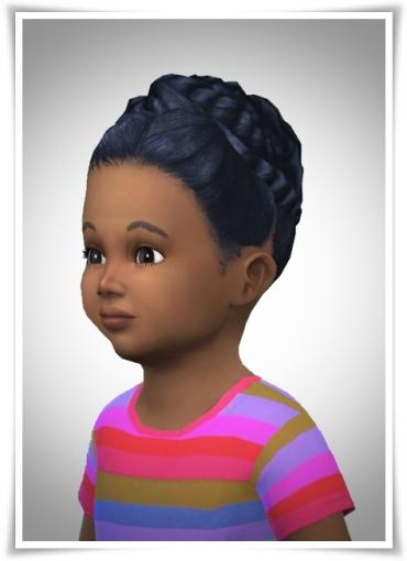 Birksches sims blog: Twisted Bun Toddler for Sims 4