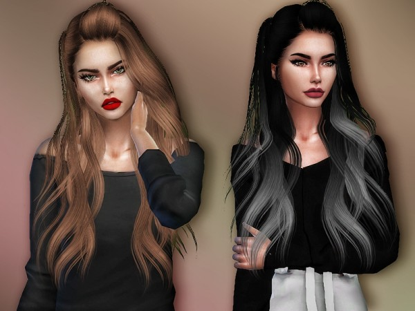 The Sims Resource: Skysims 262 hair retextured by Sharareh for Sims 4