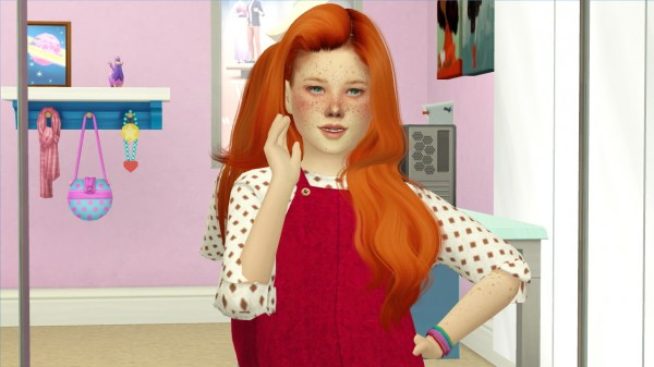 Coupure Electrique: WINGS OE0414 hair retextured kids versions for Sims 4