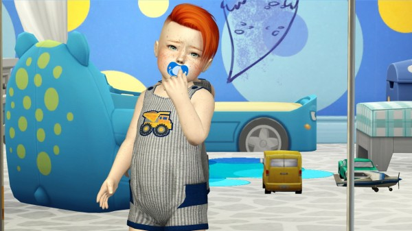 Coupure Electrique: Anto`s Spark hair retextured kids and toddlers version for Sims 4