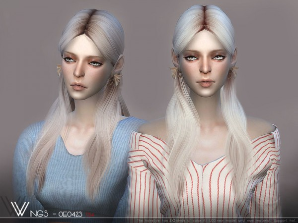 The Sims Resource: WINGS OE0423 hair for Sims 4