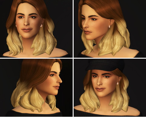 Rusty Nail: Kate hair ombre for Sims 4