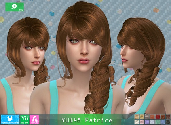 NewSea: YU148 Patrice hair for Sims 4