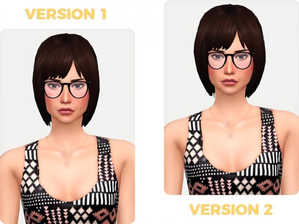 The Sims Resource: Cecilia hair retextured by Nords for Sims 4