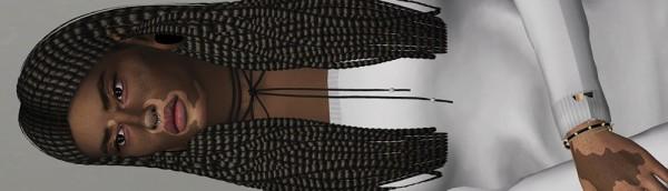 Coupure Electrique: Ade Darma's Boxbraid hair retextured for Sims 4