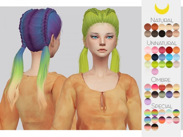 The Sims Resource: LeahLillith`s Freaky Hair Retextured by kalewa a for Sims 4