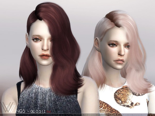 The Sims Resource: WINGS OE0512 hair for Sims 4