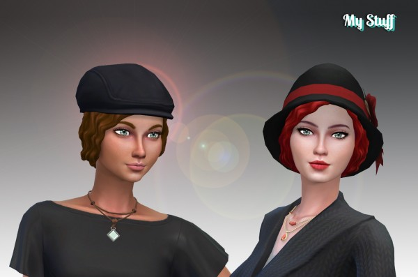 Mystufforigin: Flapper Fabulous hair for Sims 4