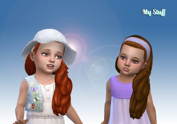 Mystufforigin: Livia hair retextured for toddlers for Sims 4