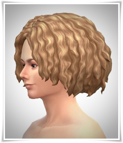 Birksches sims blog: Contest Wave Hair for Sims 4