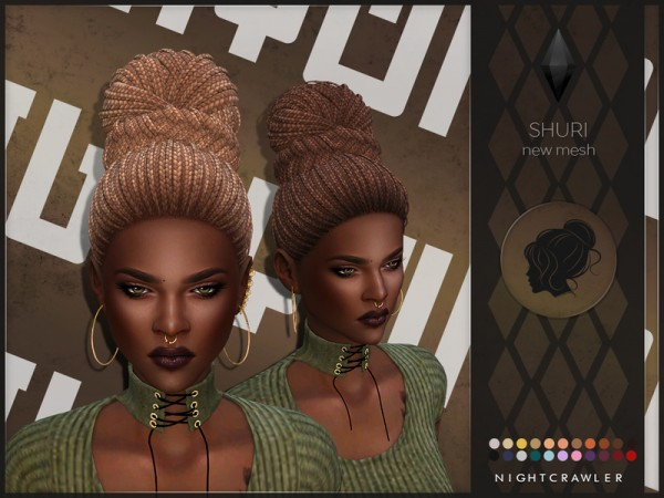 The Sims Resource: Shuri hair by Nightcrawler for Sims 4