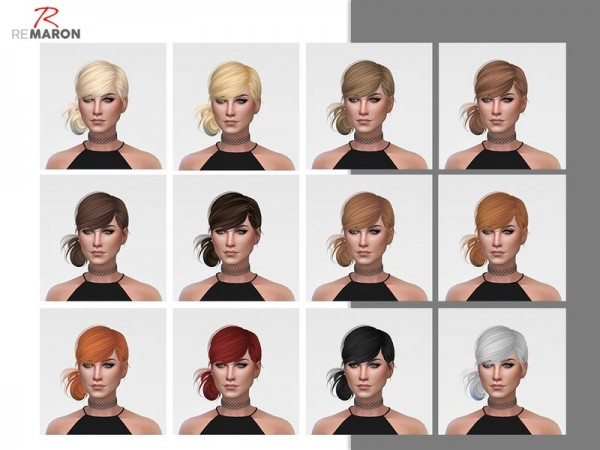 The Sims Resource: Alice hair retextured by remaron for Sims 4