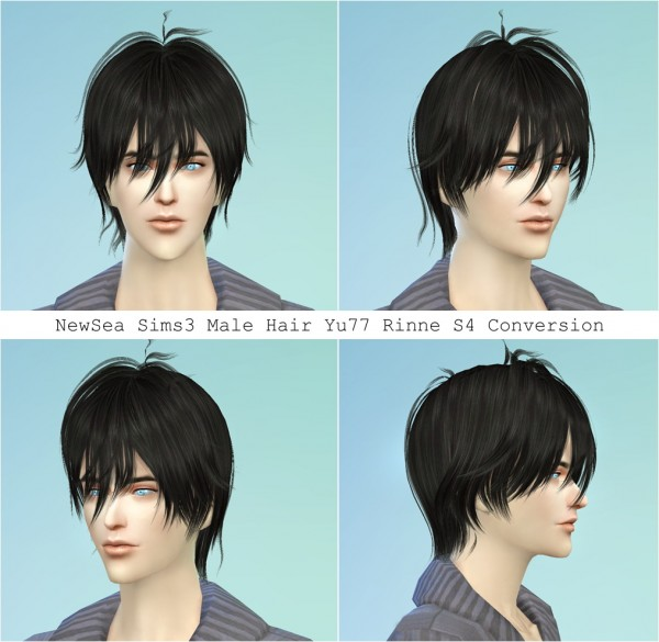 Twinklestar: NewSea`YU77 Rinne hair retextured for Sims 4