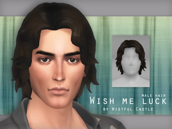 The Sims Resource: Wish me luck hair by WistfulCastle for Sims 4