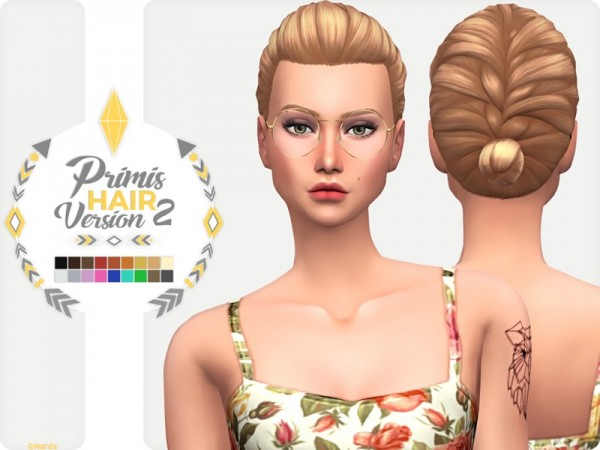The Sims Resource: Prims hair v2 by Nords for Sims 4