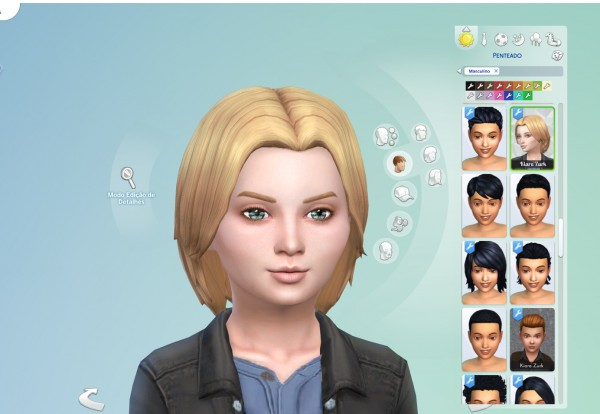 Mystufforigin: Independence Hair retextured for kids for Sims 4