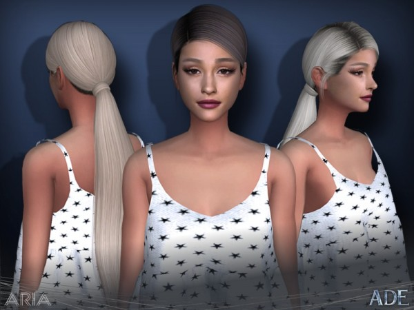 The Sims Resource: Aria hair by Ade Darma for Sims 4