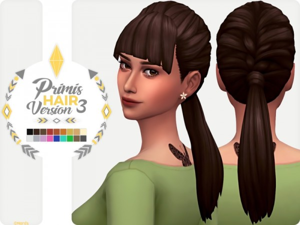 The Sims Resource: Primis Hair V3 by Nords for Sims 4