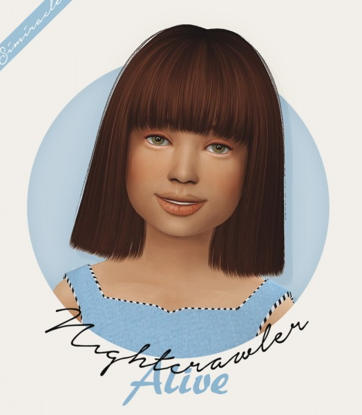 Simiracle: Nightcrawler`s Alive hair retextured   Kids Version for Sims 4