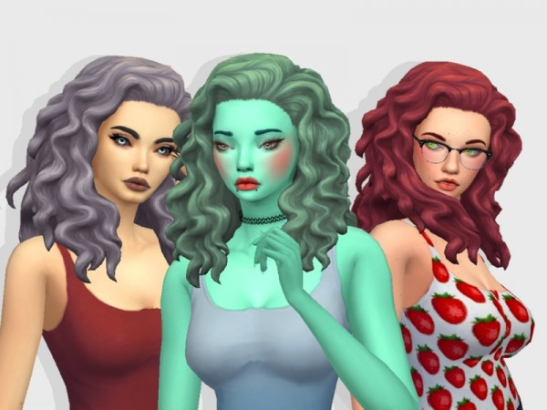 The Sims Resource: Curly Hair Recolored by BabyBubbleSim for Sims 4