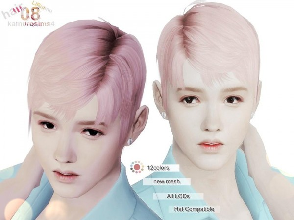 The Sims Resource: LiRuimu hair 08 by loli 315 for Sims 4