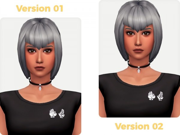 The Sims Resource: Mavis Dracula Hair by Nords for Sims 4