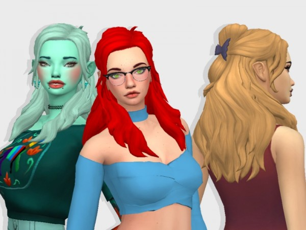 The Sims Resource: Britneys Misty Hair Recolored by BabyBubbleSim for Sims 4