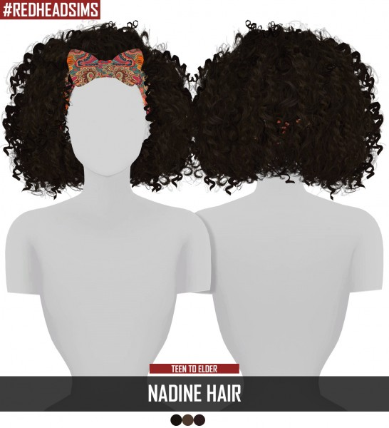 Coupure Electrique: Nadine hair for Sims 4