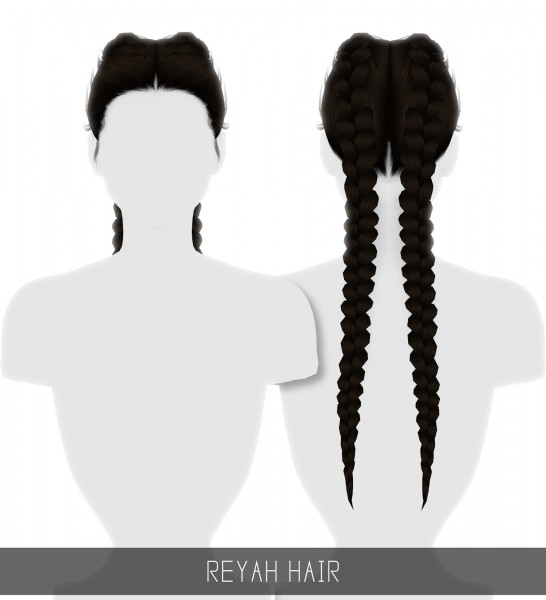Simpliciaty: Reyah hair for Sims 4
