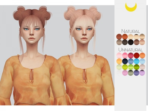 The Sims Resource: LeahLillith`s Nyane hair retextured for Sims 4
