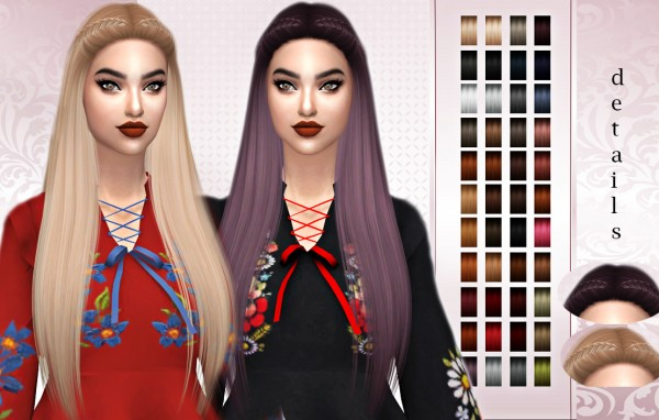 Frost Sims 4: Nightcrawler`s Cosmic Hair retextured for Sims 4