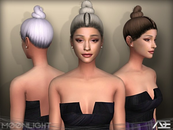 The Sims Resource: Moonlight hair by Ade Darma for Sims 4