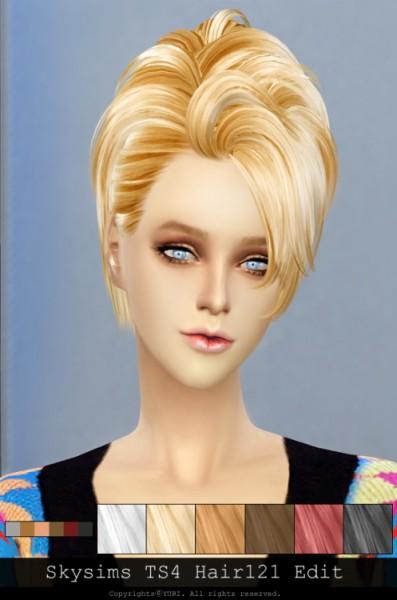 Twinklestar: Skysims 121 hair retextured for Sims 4