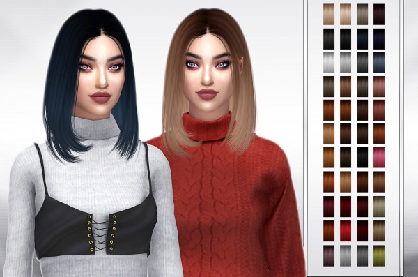 Frost Sims 4: Anto Dua hair retextured for Sims 4