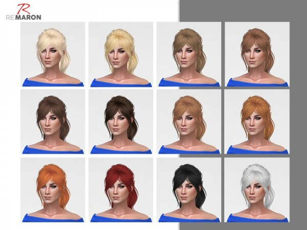 The Sims Resource: Jen 001 hair retextured by Remaron for Sims 4