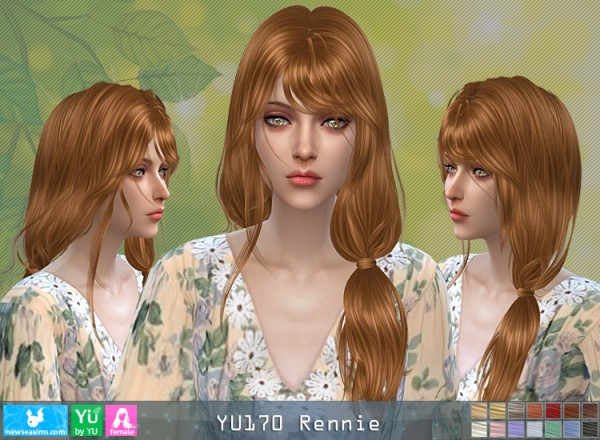 NewSea: YU170 Rennie hair for Sims 4