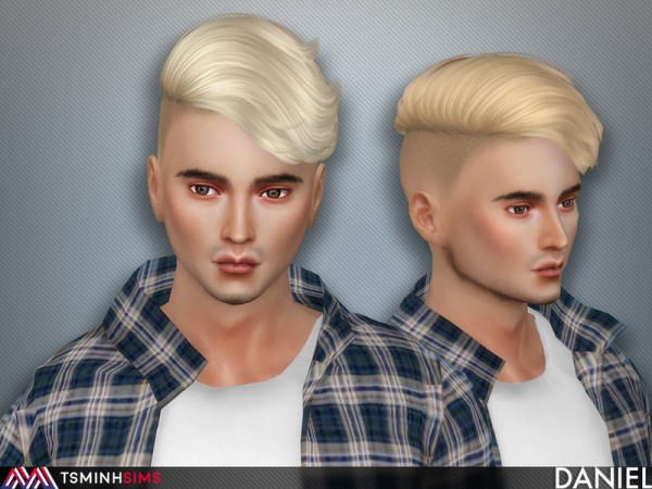 The Sims Resource: Daniel Hair 60 by TsminhSims for Sims 4