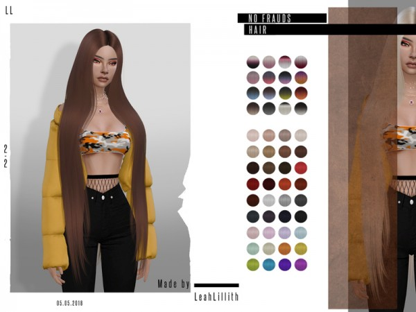 The Sims Resource: No Frauds Hair by Leah Lillith for Sims 4