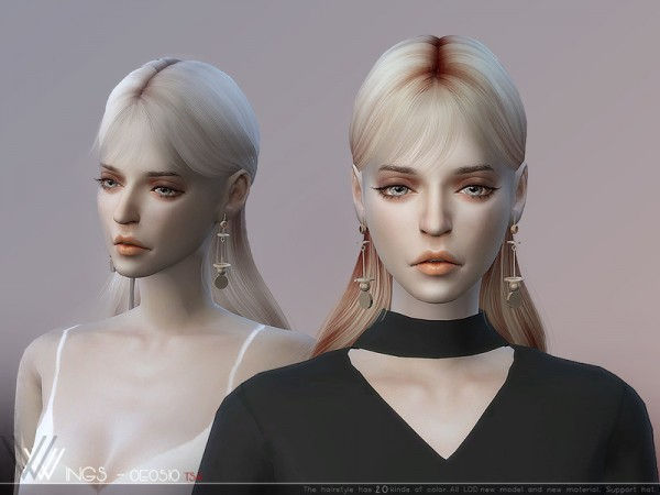 The Sims Resource: WINGS OE0510 hair for Sims 4