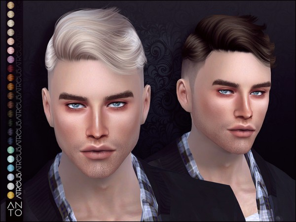 The Sims Resource: Atreus Hair by Anto for Sims 4