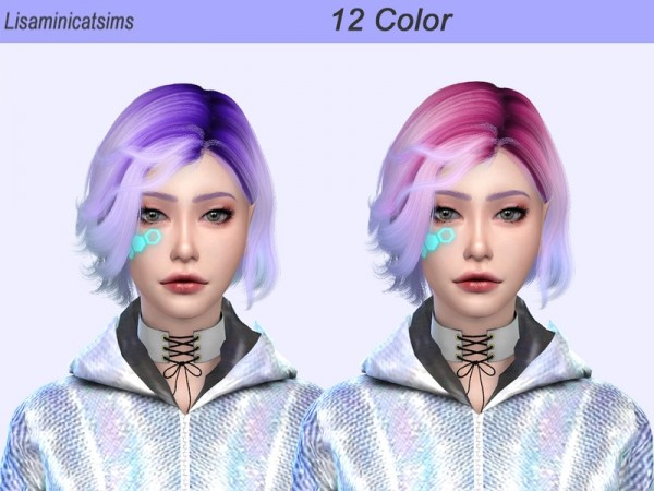 The Sims Resource: WINGS OE0528 Ombre Hair Retextured by Lisaminicatsims for Sims 4