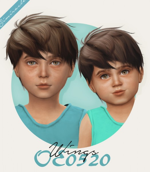 Simiracle: Wings OE0520 hair retextured   kids version for Sims 4