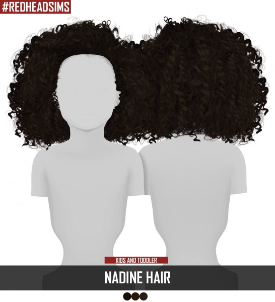 Coupure Electrique: Nadine hair kids and toddlers version for Sims 4