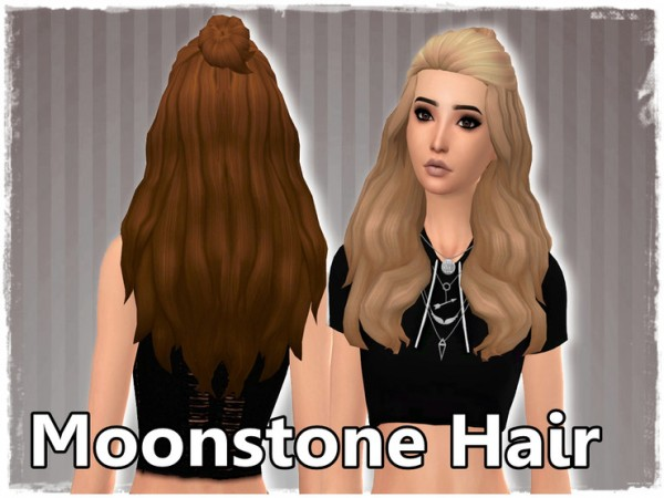 Mikerashi: Moonstone hair retextured for Sims 4