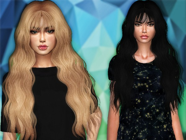 The Sims Resource: Mermaid hair retextured by Sharareh for Sims 4