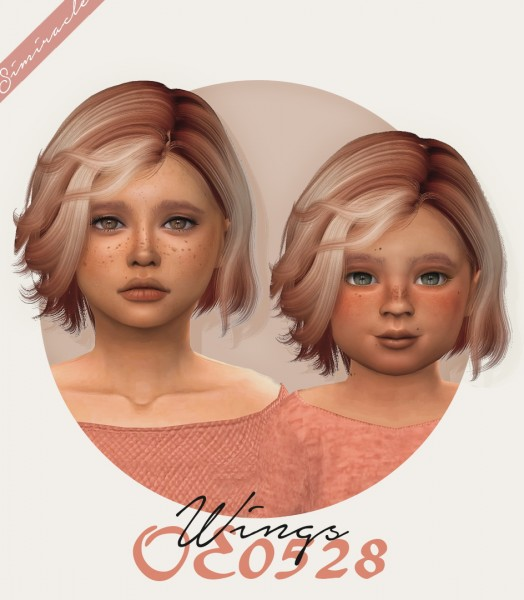 Simiracle: Wings OE0528 hair retextured   kids and toddlers versions for Sims 4