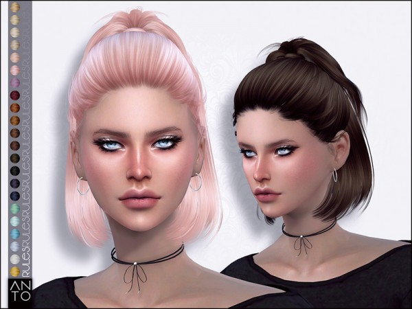The Sims Resource: Rules hair by Anto for Sims 4