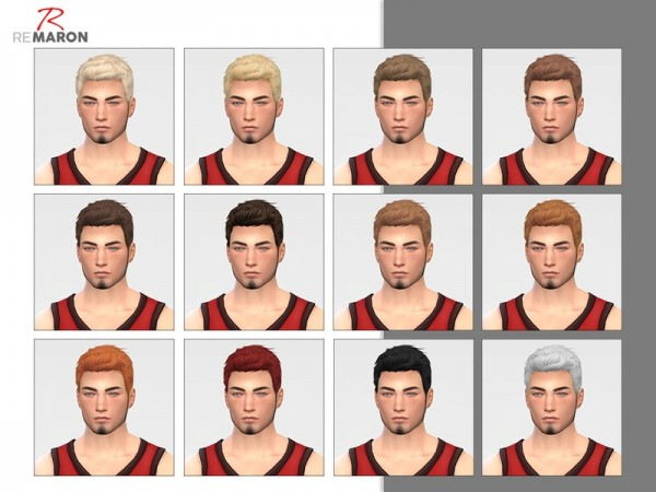 The Sims Resource: WINGS OS1113 hair retextured by remaron for Sims 4