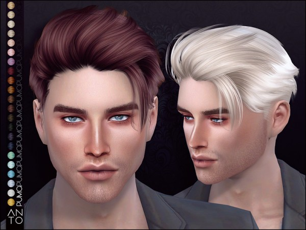 The Sims Resource: Puma Hair by Anto for Sims 4
