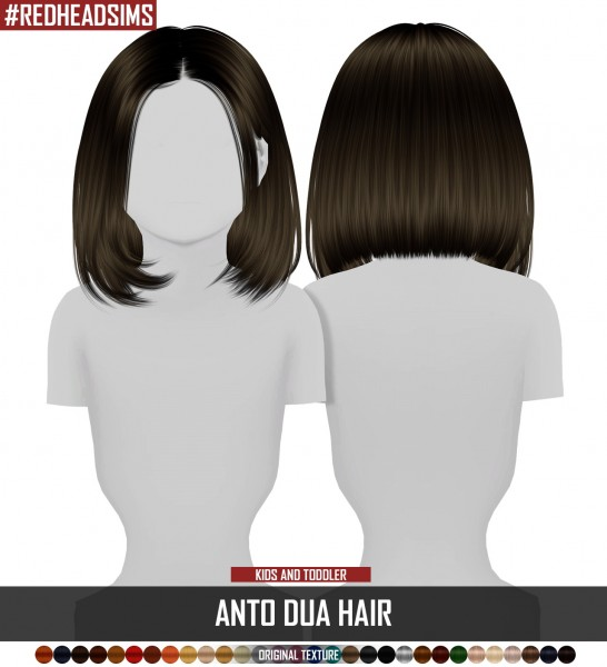 Coupure Electrique: Anto`s Dua hair retextured   kids and toddlers version for Sims 4